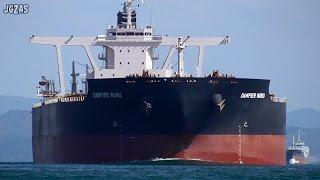 DAMPIER MARU Bulk Carrier バラ積み船 第一中央汽船 関門海峡 2016-FEB
