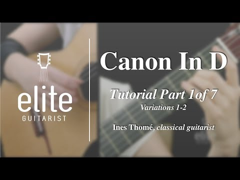 Here a teaching sample for Pachelbel's famous canon.