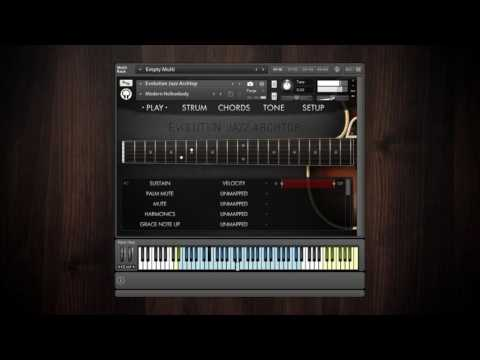 Video for Evolution Jazz Archtop - Factory Preset Walkthrough