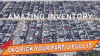 LKQ PICK YOUR PART U PULL IT JUNKYARD INVENTORY OF JUNK CARS