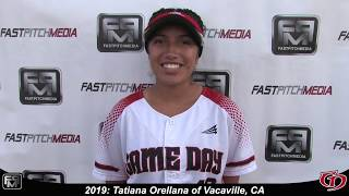 2019 Tatiana Orellana Outfield, 3rd Base & Catcher Softball Skills Video - Game Day