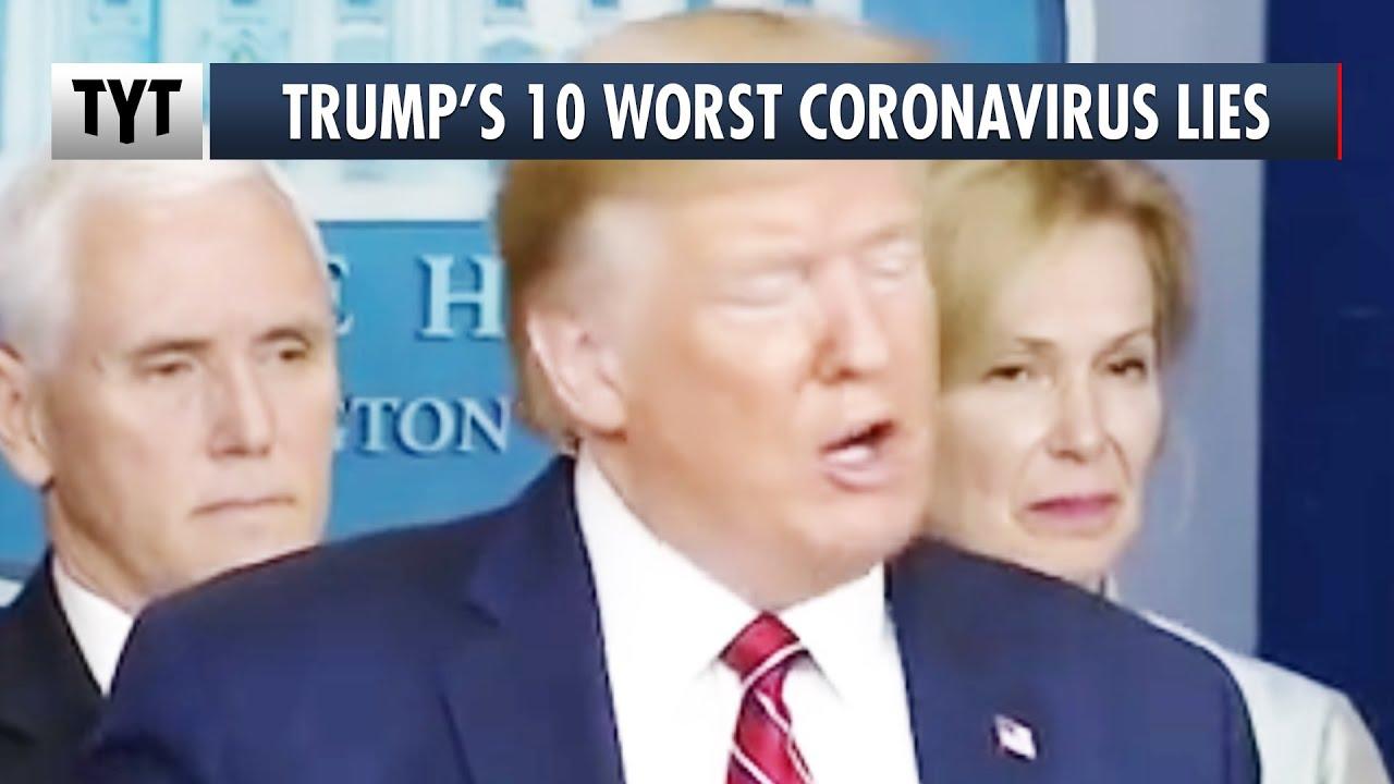 10 UNBELIEVABLE Coronavirus Lies from Trump thumbnail
