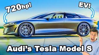 Audi's new Tesla Model S revealed!