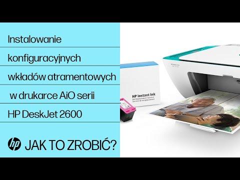 Instalowanie konfiguracyjnych wkładów atramentowych w drukarce All-in-One serii HP DeskJet 2600