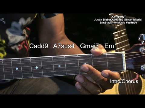 Company Justin Bieber Live Acoustic Guitar Tutorial