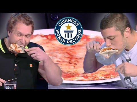 Fastest Pizza Eating with a Knife and Fork