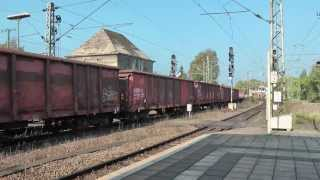 preview picture of video 'Güterzüge auf dem Bahnhof in Lehrte - 16'