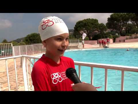 Princess Charlene visits La Turbie swimming pool