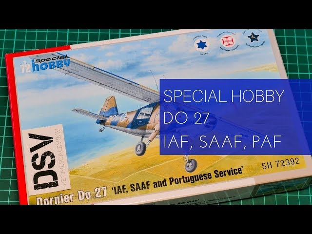 Special Hobby 100-SH72392 Dornier Do 27 IDF SAAF and Portugese Service in 1:72