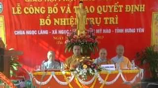 preview picture of video 'chua Ngoc Lang - LỄ BỔ NHIỆM TRỤ TRÌ'