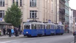 preview picture of video 'Krakowska Linia Muzealna - skład Konstal N+ND+ND, 22.09.2013'