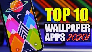 TOP 10 BEST iPhone WALLPAPER Apps of 2020 !
