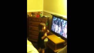 Caught my niece dancing to a video.