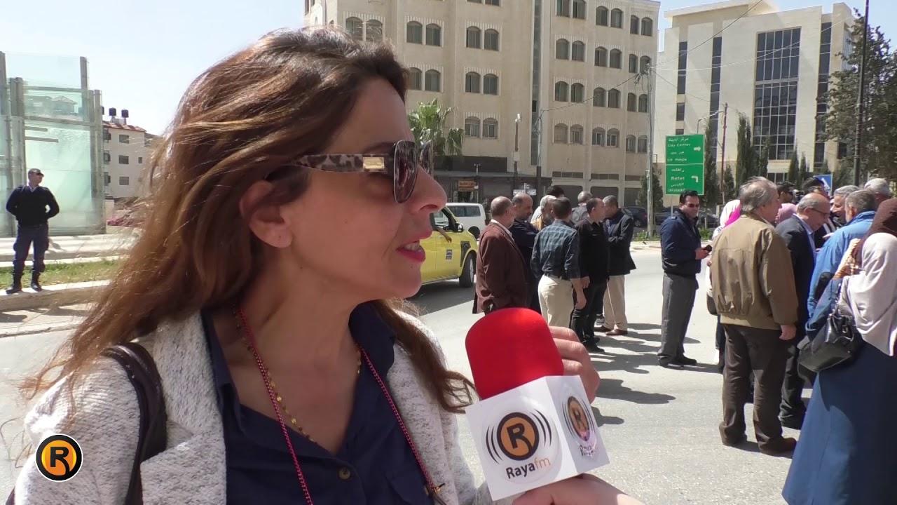 العشرات من المحالين للتقاعد يحتجون أمام رئاسة الوزراء