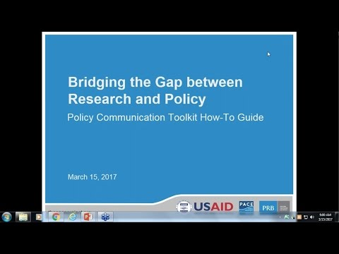 Bridging the Gap Between Research and Policy: Policy Communication Toolkit How-To Guide Video thumbnail