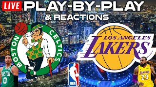 Boston Celtics vs Los Angeles Lakers   Live Play-By-Play & Reactions