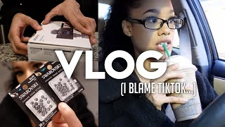 VLOG: MINI PRODUCTIVE DAY IN MY LIFE (TIKTOK DRINK & NEW VLOG CAMERA + UNBOXING) ft. yanibest