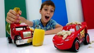 Мультики про машинки - Мойка для Маквина и Шерифа - Видео для мальчиков