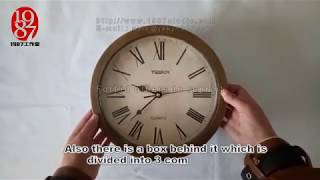 Clock Safe Prop For Real Life Escape Room - 1987 Studio