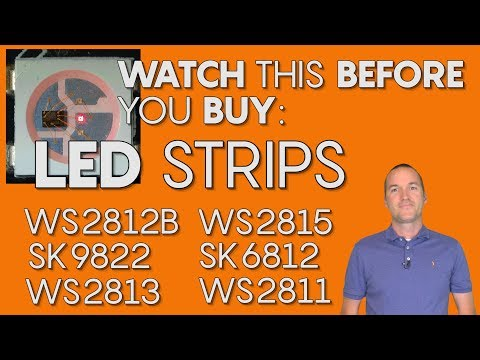 LED Strips, what&#39s the difference? WS2811, WS2812B, 2812Eco, WS2813, WS2815, SK6812, SK9822.