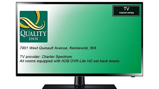 TV Channel Lineup: Quality Inn, Kennewick, WA (October 2017)