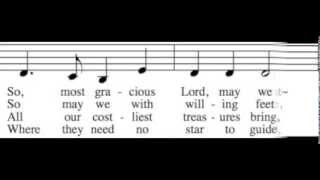 As with Gladness Men of Old - Alto Only - Learn How to Sing Christmas Carols
