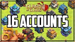 HOW I Play 16 Accounts in Clash of Clans