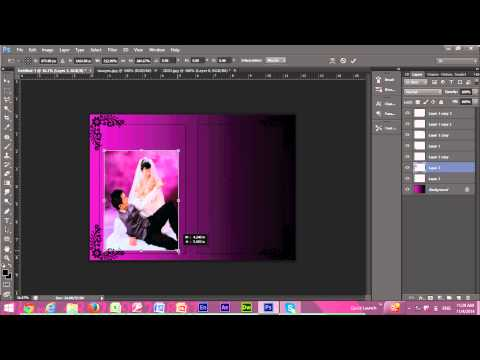Video TUTORIAL MEMBUAT UNDANGAN DENGAN PHOTOSHOP CS6