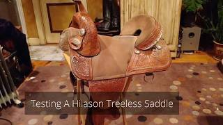 Evaluation Of A Used Hilason Treeless Western Barrel Saddle.  On The Ground And On The Horse