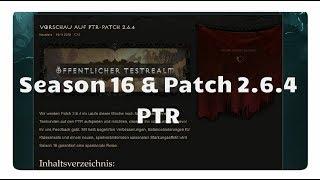 Diablo 3: Season 16 und Patch 2.6.4 (PTR)