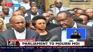Parliament to Mourn Moi: The National Assembly And The Senate will on Monday hold a Special Sitting