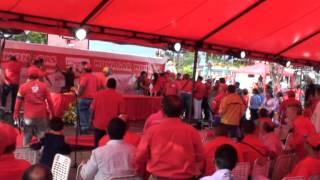 Caída del toldo Presidencial montado por la gobernación de Monagas