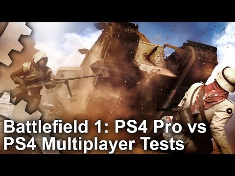 Battlefield 1 comparatif multijoueur PS4 PS4 PRO