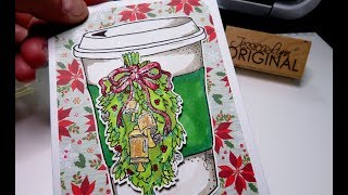 Using A FREE Digital Stamp Download Cut Color And Make A Card Full Tutorial Cardmaking