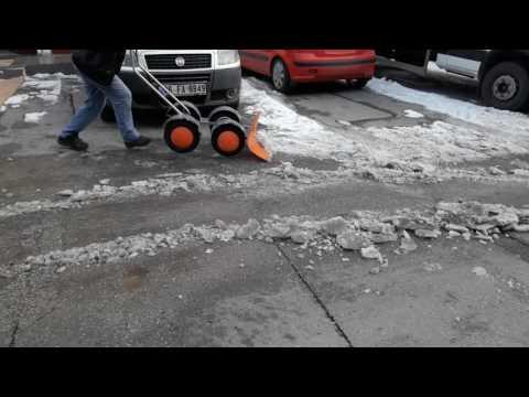 Kar Buz Temizleme, Buz Kazıma Arabası, Kar Kazıma Aparatı
