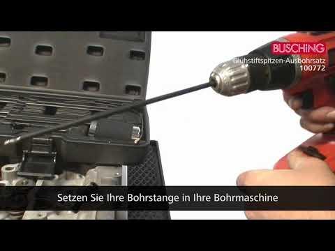 BUSCHiNG [Art.-Nr.: 100772] Glühstiftspitzen-Ausbohrersatz 13-teilig