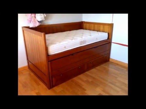 Cama nido compacto con 2 cajones para dormitorios juveniles for Camas de 105 con cajones