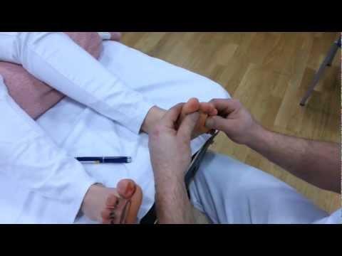 Osteochondrose auf den Klingen