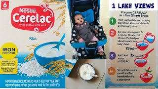 Cerelac for 6 months plus baby   Nestle Cerelac Rice   Baby Food