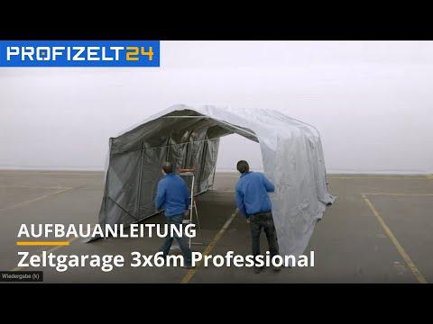 Zeltgarage (PVC) - Aufbau 3,6x6 m Professional Plus| Profizelt24