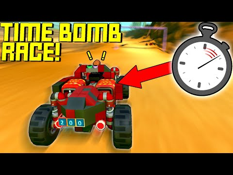Our Cars Explode In 10 Seconds Unless We Reach A Checkpoint! - Scrap Mechanic Multiplayer Monday