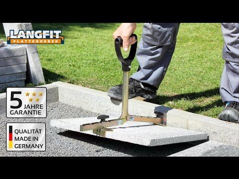 LANGFIT Plattenheber mit extra langem Griff - Rückenschonend - Auch für Pflanzringe geeignet