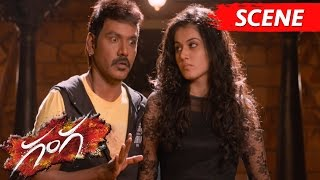 Lawrence And Taapsee Possessed By Ghosts  Thrilling Horror Scene  Ganga Movie Scenes