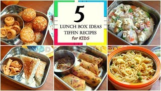 5 Tiffin Recipes | Lunch Box Recipes For Kids | Easy And Quick Tiffin Ideas For Kids |