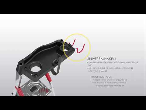 Hailo L60 Standardline Stehleiter 6 Stufen-youtube_img
