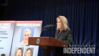 AG Linda Kelly on charges against PSU's Spanier, Schultz and Curley