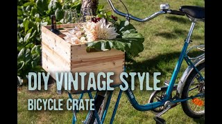 DIY Vintage Style Finger Joint Bicycle Crate