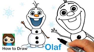How To Draw Olaf | Disney Frozen
