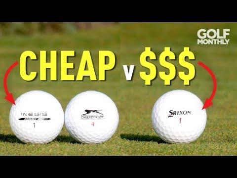 Cheap v Expensive Golf Balls Test!! Golf Monthly