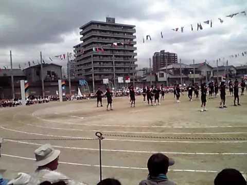 よさこいカンフー錦西小学校運動会3年4年